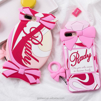 Sweet Candy Perfume Bottle Gel Rubber Cartoon Silicone Mobile Phone Case For iPhone6/6S/7/7Plus
