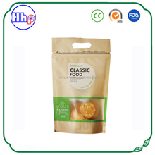China manufacturer heat seal custom printed zipper paper bag window