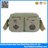 China supplier boys and girls one belt cross body fancy satchel bags cheap canvas messenger bag with compartment