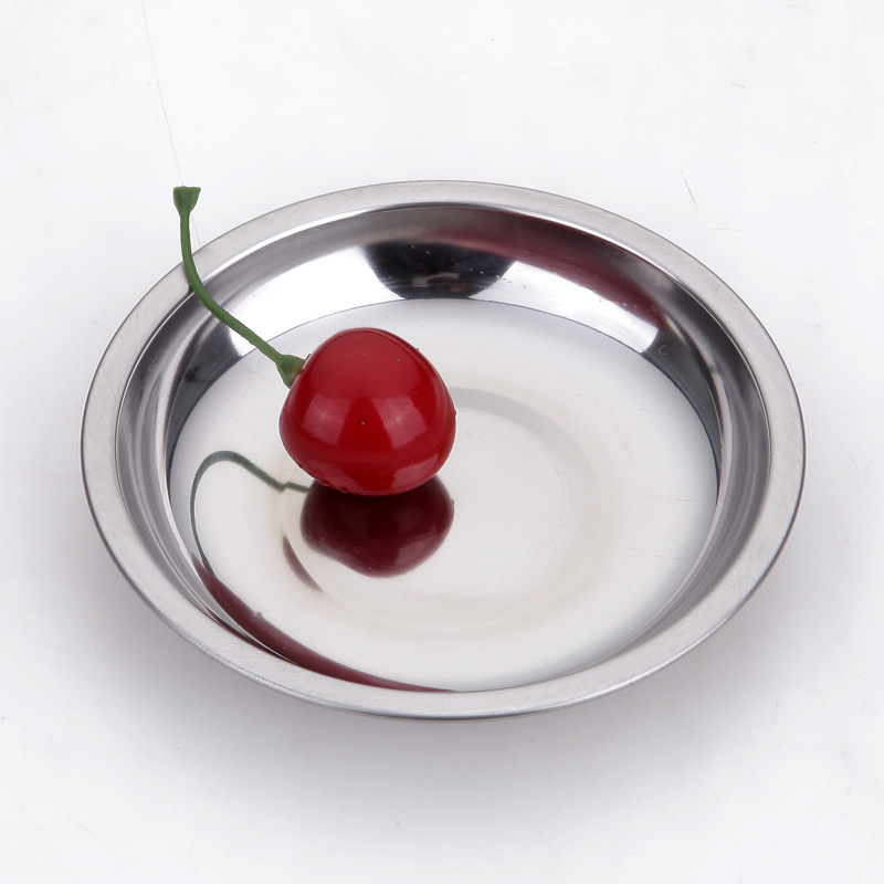 stainless steel tableware condiment dish dinner <strong>plate</strong> for seasoning Vinegar dish