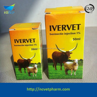 Veterinary medicine Ivermectin Injection 1% for sheep, camel, pig, horses