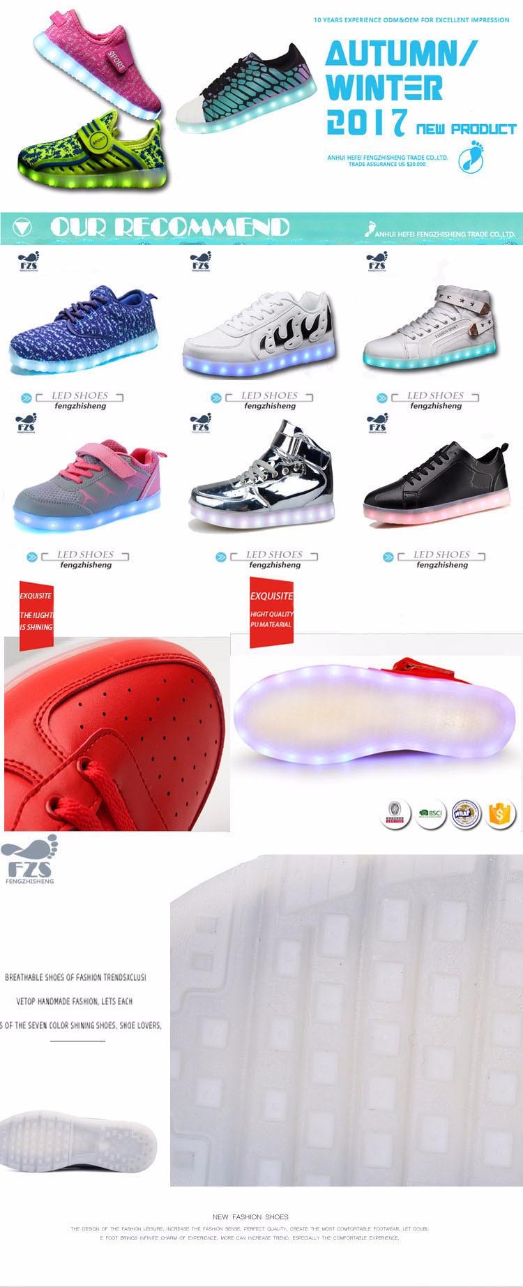 HFJH429 2017 패션 도매 싼 빛 스포츠 신발 중국 공장