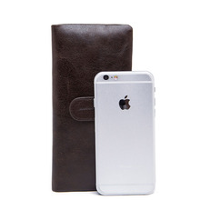 Men cell phone car holder blank brown wallet