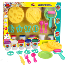 Hot selling summer toy plastic beach sand molds kids toys breakfast series molding sand