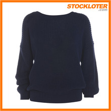 Ropa de las mujeres stock cable-knit sweater abrigos exceso, 161004f