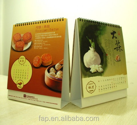 Most popular crazy selling folding paper desk calendars