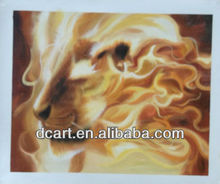 modern textured canvas animal oil painting