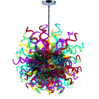 New Deginer Chihuly Style Chandelier Hand Blown Glass Lamp for Hotel Lobby 29008