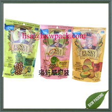 top quality 1kg 500g dried snacks stand up ginger slices bag, Cranberry packing bag,tobacco paking bag
