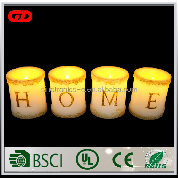 High-quality waterproof & windproof harmony moon light veranda flameless led candle fountain with timer