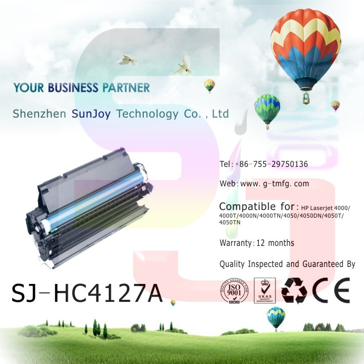 sunjoy 27A black laser compatible toner cartridge C4127A for HP 4000T 4000TN 4050 4050N