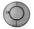 Inner and outer cast iron circle cooking grid