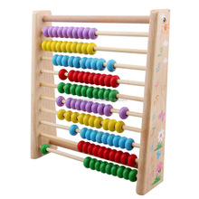 Wooden children small computing rack wood teacher student abacus beads learning Mathematics Arithmetic counting frame kit toys