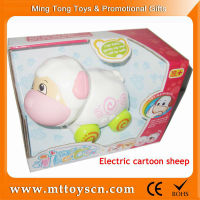Cartoon batter operate sheep car toys electric