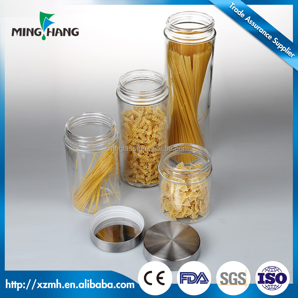 600ml/1000ml/1500ml/1800ml decorative glass jars and lids