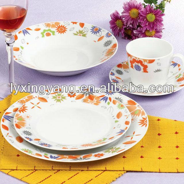 12PCS/16PCS/20PCS/30PCS /47PCS ceramic round houseware/chinese tableware/dinnerware set with modern printing