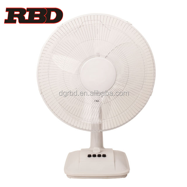 Portable Appliance 16 inch Easy Cooling Electric Ventilating Table Fan Functional Colored Desk Fan with Power Source