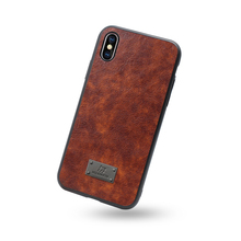 Huanmin OEM Logo Phone Case TPU And PC 2 In 1 Retro Leather Case
