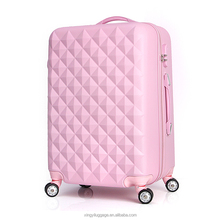 Girls' travelling luggage ABS trolley case colorful trolley bag factory hard shell suitcase