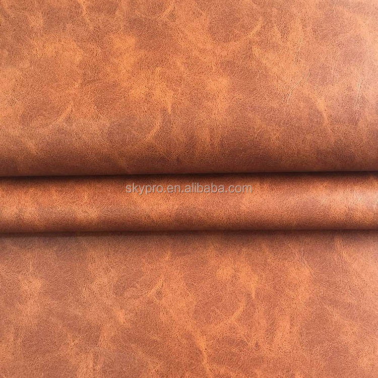 OEM Available PVC Synthetic Leather Embossed Crazy Horse Leather for Shoes and Bags