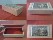 camel skin with papyrus painting Jewlery box