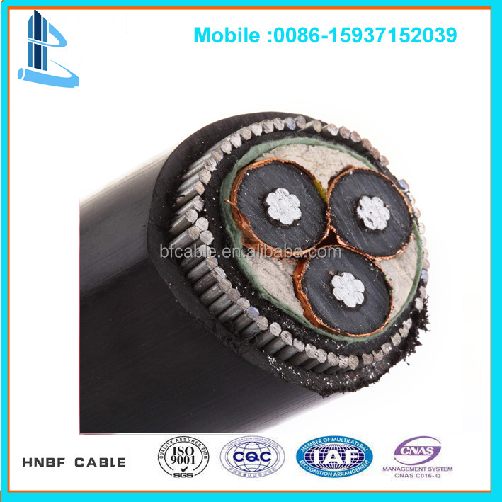 11KV 240mm2 Medium Voltage XLPE Armoured Copper Power Cable