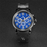Fashion Brand V6 watch Silicone strap Luxury Sport Men Wristwatch