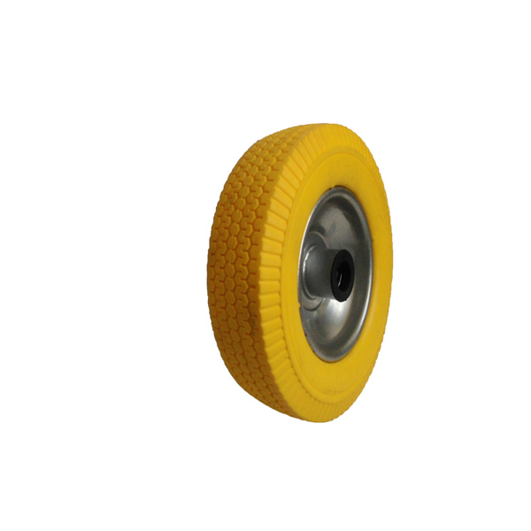 8 inch flat free pu foam tire for small equipements, solid tyre for small machines