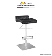 Stainless steel furniture swivel bar stool bar chair