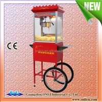 8 Oz CE approval mobile commercial Popcorn Machine with Cart price