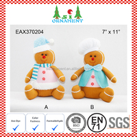Christmas sitting gingerbread man plush toy