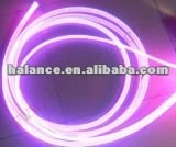 Plastic solid side glow fiber optic light