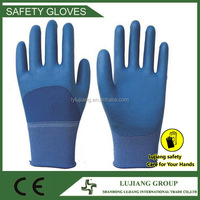 Cheapest breathable Fishing rubber coated gloves