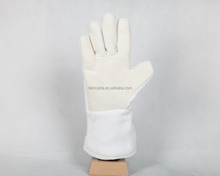 White Color Industrial Welding 200 Degree Meta-aramid and Polyester Heat Resistant Working Safety Gloves