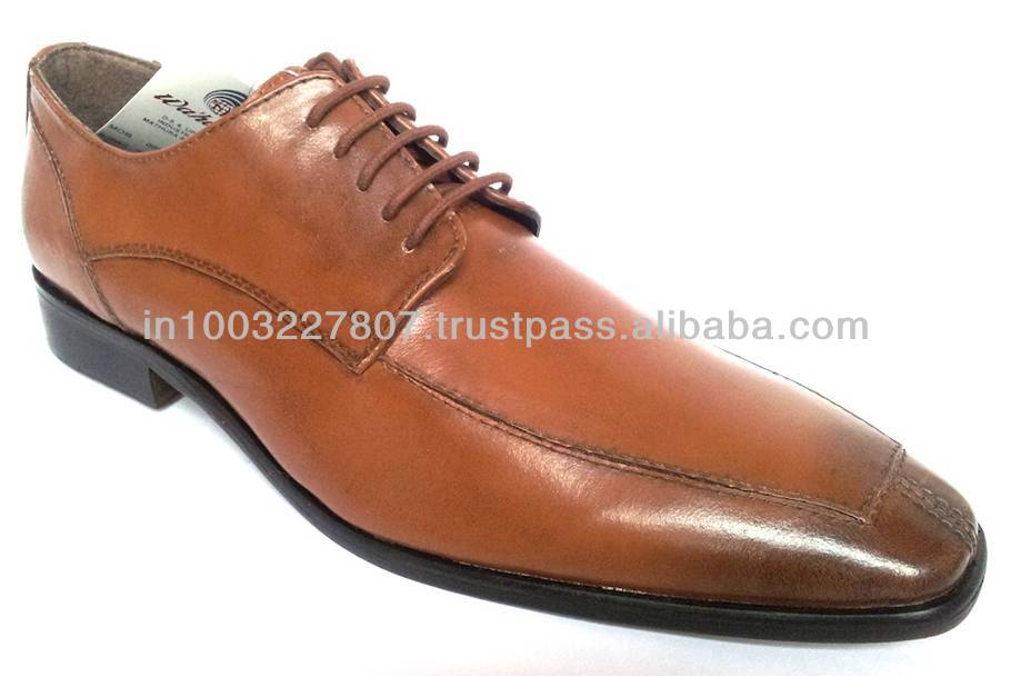 Brown Genuine Leather Men Dress Shoes