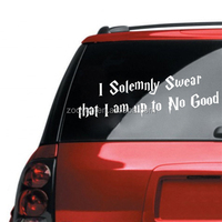 ZOOYOO I am up to NO GOOD vinyl stickers quotation for car decoration same vinyl wallpapers (8414)