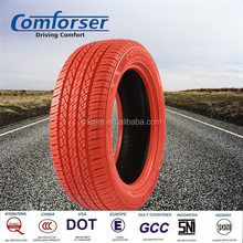 Red colored car tires COMFORSER PCR radial passenger car tire for hot sale