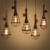 Steel pipe vintage pendant light hemp rope lighting fixtures retro indoor hanging light antique metal frame E27