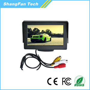 "Wholesale 4.3"" tft lcd car foldable rearview monitor/ car monitor with AV input"