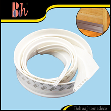 Self Adhesive Silicone Rubber Door Bottom Drop Seal Weatherstripping Waterproof Windproof Sealing Strip for Wooden Aluminum Door