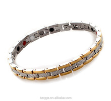 Titanium Magnetic Energy Germanium Armband Power Bracelet Balance Health Bio 4in1