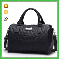 YTF-P-STB021 Yiwu manufactory wholesale black quilting PU leather handbag online shopping