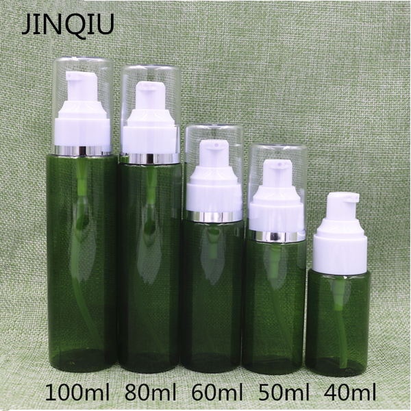 Plastic PETG 40ml/50ml/60ml/80ml/100ml cream pump cosmetic lotion bottle