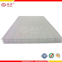 UV protection 100% virgin PC material triple wall PC sheet for swimming pool shelter