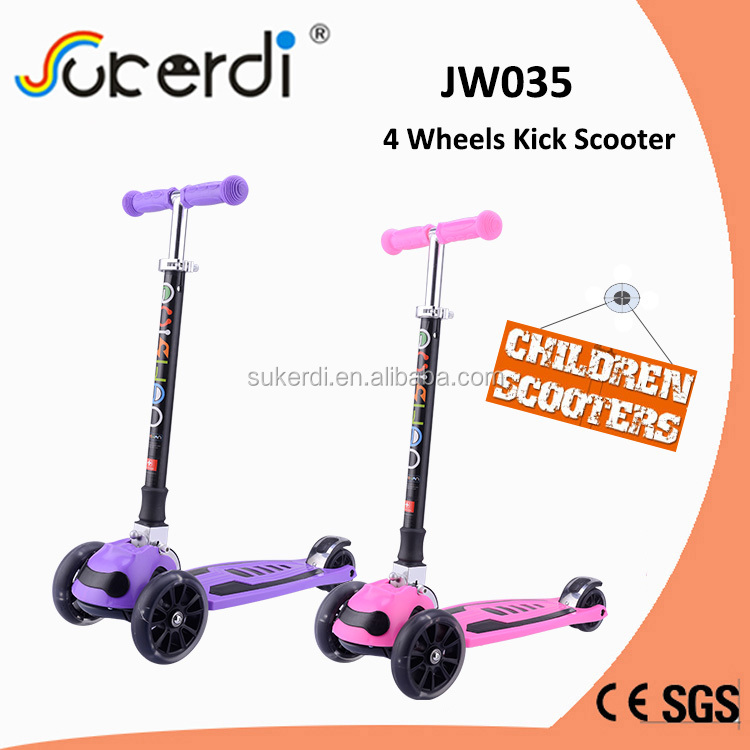 Yongkang Factory sales directly kids double front wheel standing scooter childs trick scooters for sale
