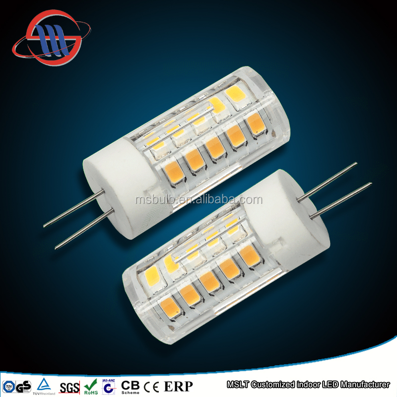 High quality PC+Ceramic G4 220V led lamp 6w G4 SMD led bulb 360 degree
