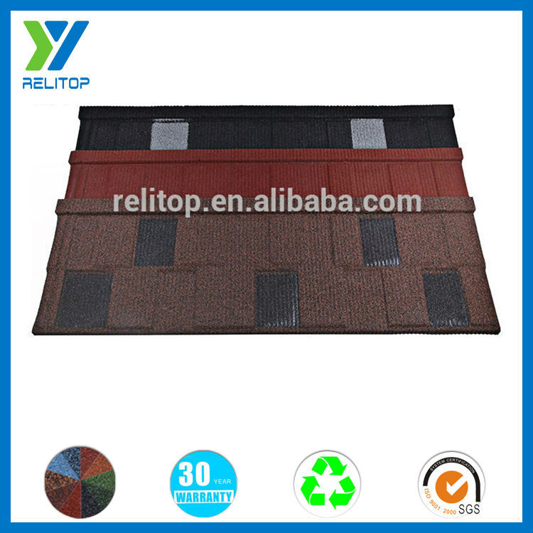Zinc stone coated spanish style metal roofing tile on sale