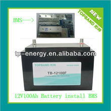 Amazing 12V 100Ah motor tricycle battery