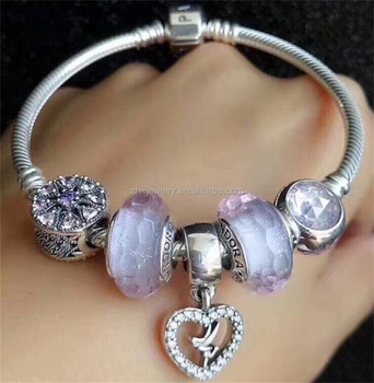 New Fashion Womens Gift Bangle Real Natural Crystal 925 Sterling Silver Jewelry Charm Bracelet