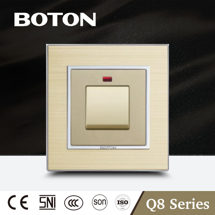20A switch with neon nice looking clap wall switch